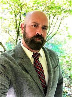 Handsome Bearded Men, Scruffy Men, Hairy Men, Moustache, Mustache Men, Great Beards, Awesome Beards, Bald Head With Beard, Hot Army Men