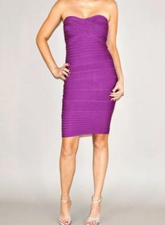 Purple Strapless Bodycon Dress,  Dress, purple strapless bodycon fitted, Chic