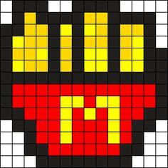 Mcds Fries Perler Bead Pattern / Bead Sprite