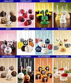 A Year's worth of Cake Pops - ideas for parties - bjl