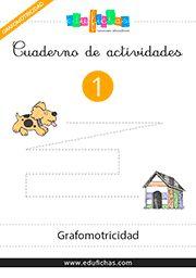 cuadernillo de grafomotricidad para imprimir. enlace directo pdf http://www.edufichas.com/wp-content/uploads/2015/03/gr-01-cuadernillo-grafomotricidad-infantil.pdf