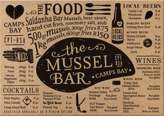 Mussel Bar menu | Fanakalo