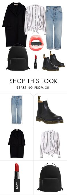 """""""Noora SKAM 💿"""" by lannaparkl ❤ liked on Polyvore featuring Dr. Martens, Marni, Equipment, NYX and MANGO"""