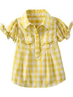 Plaid Tie-Sleeve Tops for Baby | Old Navy