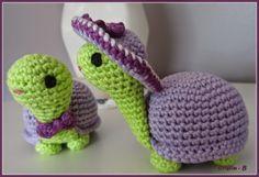 tortue violette