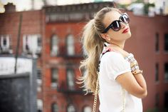 Glamgerous - Fashion Blog: Just A Drop Of Red #look #summer #love #glamgerous #blogger #blog #style #bow #camilla #red