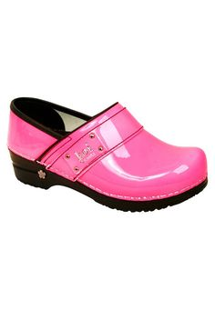 bfef206bfd92 Koi by Sanita Lindsey Patent Neon nursing clogs. - Scrubs and Beyond  pink