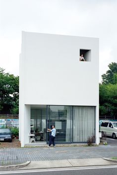 This flower shop, art gallery, and home for two looks like the simplest of cubes. Fitting it all into 1,115 square feet, however, prompted Japanese architect Makoto Tanijiri to think outside the box.