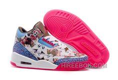6f0b9b9ce29 2016 Girls Air Jordan 3 School Season Brown Blue Pink Shoes Authentic  ZWJijNh