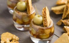 Apples In Honey With Grapes And A Treacle Top  Pots of fruity goodness make for the perfect date night treat.