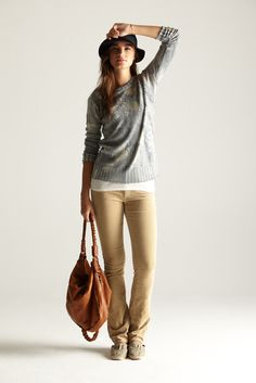 classic. polka dot blouse // blazer // khaki pants | Khaki Pants ...