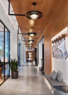 Perfect weekend getaway - Arlo Hudson Square Boutique Hotel, set in Manhattan's old printing district between SoHo, Tribeca and Greenwich Village. Hotel Hallway, Hotel Corridor, Corporate Interiors, Hotel Interiors, Hotel Bedroom Design, Design Hotel, Elevator Lobby Design, Interior Exterior, Room Interior