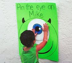 Click the pin for fun ideas for a Monsters Inc. party from our Mommy & Me Tab!
