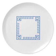 Greek Style Melamine Plate