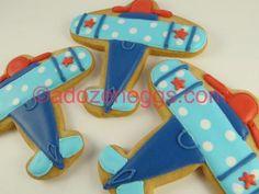 Sugar cookies cut in airplane shapes Airplane Kids, Airplane Baby Shower, Airplane Party, Cookies For Kids, Cut Out Cookies, Dreams For Kids, Airplane Cookies, Planes Birthday, Iced Sugar Cookies