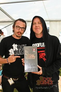 Burton C. Bell of Fear Factory with Rock Science and Onni Ikonen (Rock Science Finland)