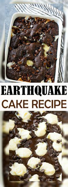 EARTHQUAKE CAKE RECIPE | Awesome Foods