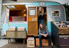 What about a vintage 1957 Kenskill trailer used as a vinyl records store ...    littlevintagetrailer.com