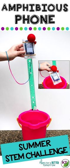 Summer STEM Challenge: In Amphibious Phone, students will make a summer-proof smartphone case that makes the phone waterproof and retrievable when dropped into a lake or pool (or bucket, as the case may be)! Includes modifications for grades Science Writing, Teaching Science, Teaching Tips, Elementary Science, Upper Elementary, Science Lessons, Science Ideas, Science Experiments, Teacher Blogs