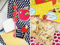 Embalagens personalizadas para festa infantil Volta as Aulas