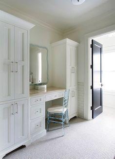 Closet with built in vanity