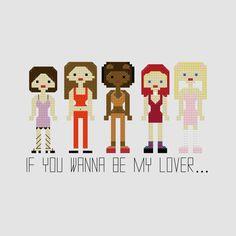Spice Girls Cross Stitch Pattern