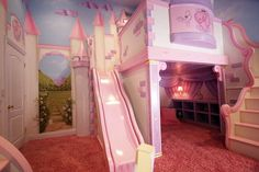 girl bedroom decorated as a castle for a princess - 15 outstanding ideas for unique kids rooms