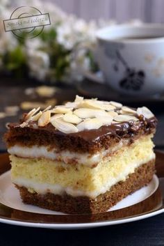 Pyszne ciasto z kawą zbożową od Pani Zuzi – Smaki na talerzu Polish Desserts, Polish Recipes, Baking Recipes, Cake Recipes, Patisserie Design, Russian Recipes, Homemade Cakes, Desert Recipes, Pie Dessert