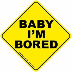 Baby i'm board sticker from The Pippa & Ike Show, our joke on the BABY ON BOARD sticker #landmarkautoinc
