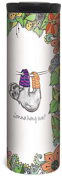 'Wanna Hang Out?' Sloth Barista Tumbler