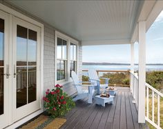 Porch. This is how the perfect porch looks like for me. It's beautiful and it has ocean views! #porch