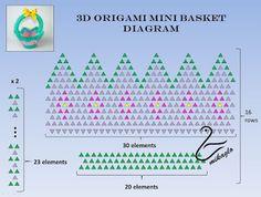 266. Міні-кошики - підручник / 3d орігамі mini basket tutorial Image