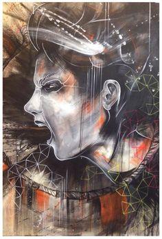Shelley Swain, Tiger, 2015. www.shelleyswain.com/paintings