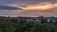 Sunset over Princes Street, Edinburgh