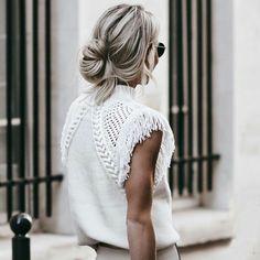 White half shoulder blouse