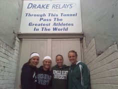 Ashely Larva, Kirsten Maras, Michelle Ohman and Taylor Sautbine competed in the Sprint Medley at the Drake Relays April 28, 2012. They finished 16th.