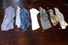This is a whole blog post on closet basics for the casual chic. Really cute.
