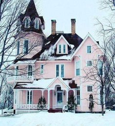 Little pink houses for you and me......