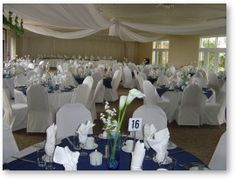 Carruther's Creek Golf and Country Club - Ajax- Grade Room holds up to 180 people with a dance floor, 220 people without a dance floor.  Attached to a tropical garden greenhouse that has a life size waterfall and tropical flowers.