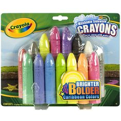 I just love the bright vibrant Caribbean colors of our washable sidewalk crayons.  #Crayolian