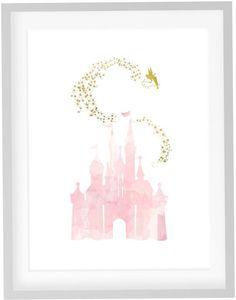 Castle Tinkerbell Print DIY Printable Watercolor by JoshandDavids