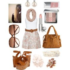 Cute floral, created by caseyo01 on Polyvore  I love the skirt!
