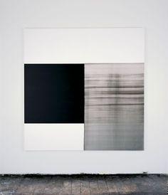 Exposed Painting Vine Black (2001) - Callum Innes