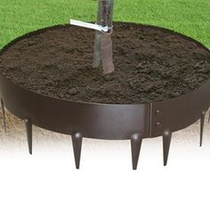 EverEdge Steel Tree Ring 4 FT Diameter on Sale - Modern Design Steel Garden Edging, Yard Edging, Tree Rings, Landscape Edging, Cool Inventions, Lawn Care, Garden Beds, Garden Gate, Modern Design