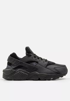 Air Huarache Run All Black Sneakers, Sneakers Nike, Soft Heels, Nike Air Huarache, Huaraches, Footwear, Running, Jay, Leather