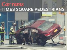 A speeding car plowed into pedestrians on a sidewalk in New York City\'s busy Times Square, killing one person and injuring a dozen, according to witnesses, and police said the incident did not appear to be an act of terrorism.