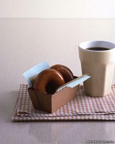 Espresso-glazed doughnuts
