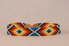 Native American Indian Inspired Seed Bead Choker by flamingobeach1, $17.99