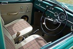 Volkswagen Beetle interior.