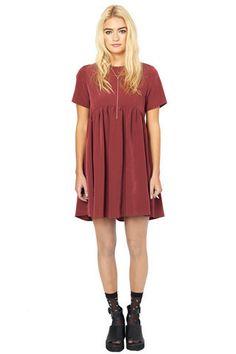 New In | Oh My Love #Smockdress #Dress #Wine